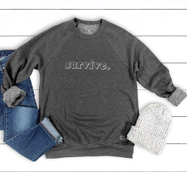 Bright Heart Foundation - Survive - Fleece Crew Sweater