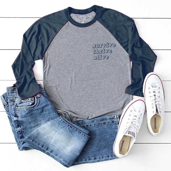 Bright Heart Foundation - Survive - Baseball Tee