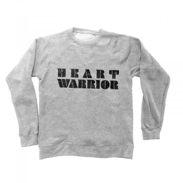 HEART WARRIOR GIFT SET - UNISEX CREWNECK SWEATSHIRT & JUMBO COTTON CANVAS TOTE