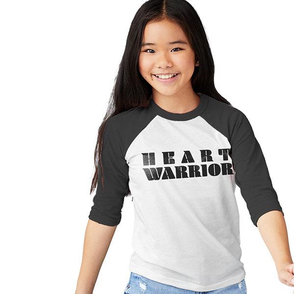 Heart Warrior Baseball Tee
